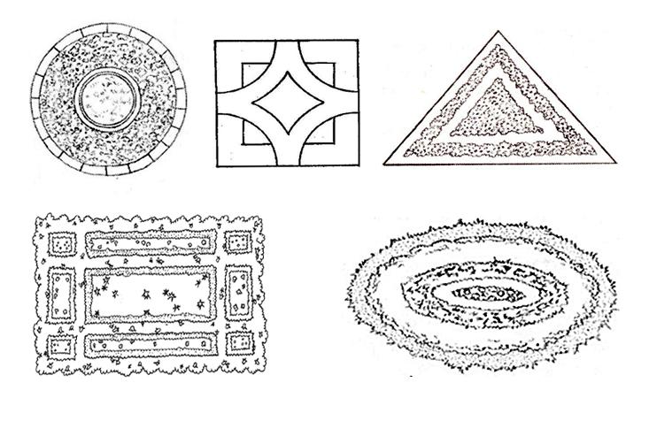 формы клумбы