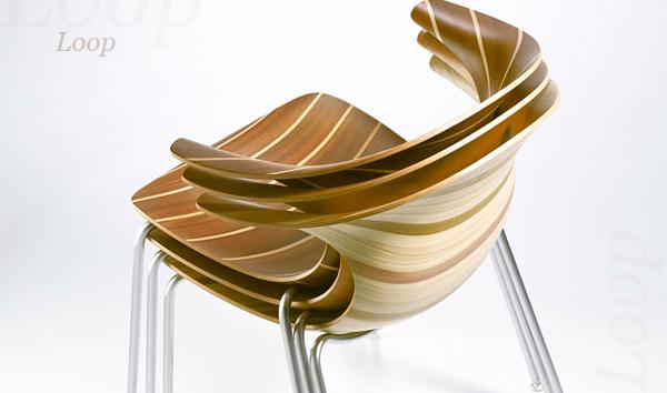 Стулья Loop от дизайнера Клауса Брейнхольта