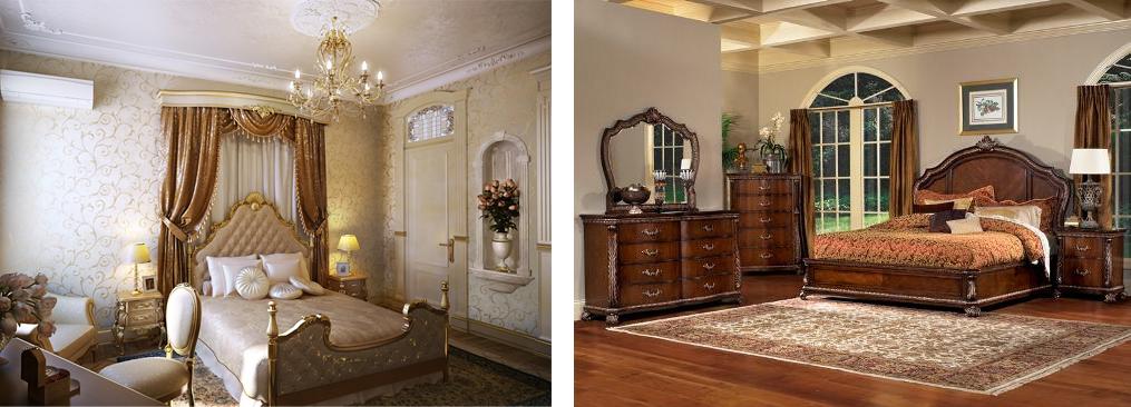 мебель в интерьере спальни в современном стиле