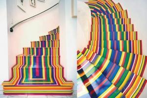 лестница радуга