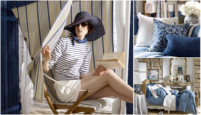 Средиземноморский стиль в интерьере   ralph lauren home collection navy blue cream 2