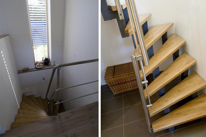 Как сделать проход в лестнице 561