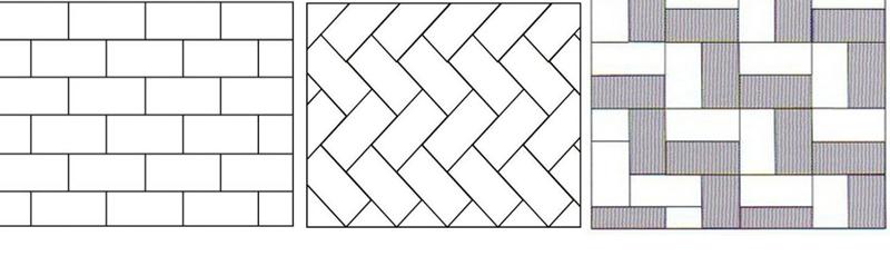 варианты укладки прямоугольной плитки