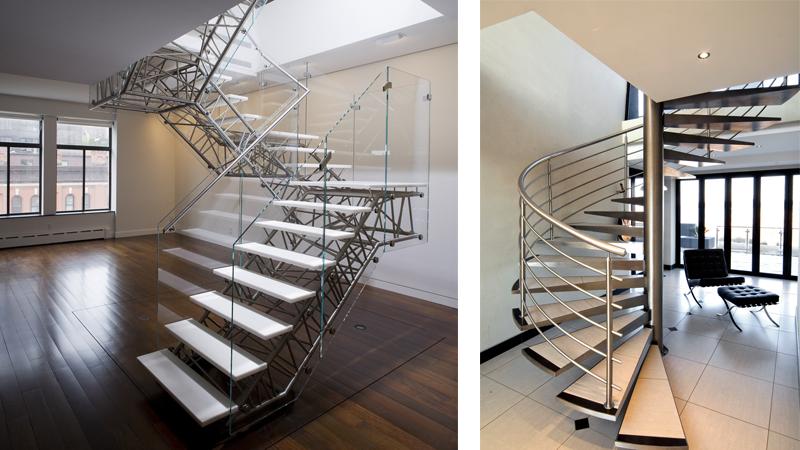 виды металлических лестниц