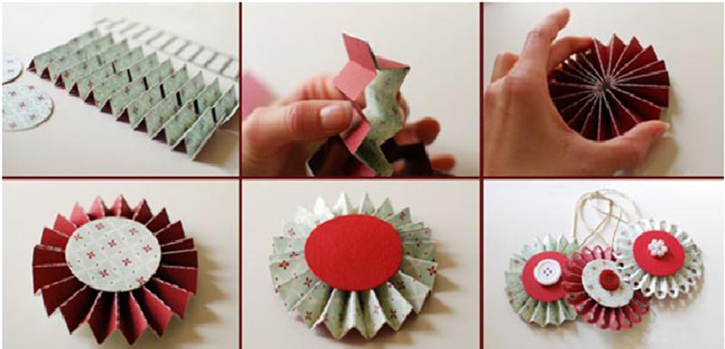 Ёлочные игрушки своими руками из бумаги и