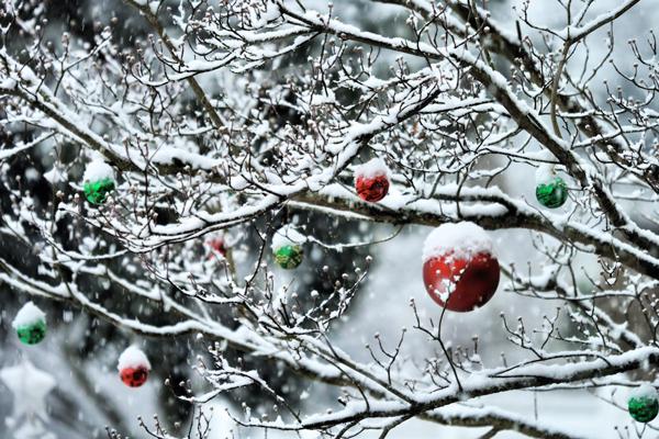 Как украсить участок на новогодние праздники